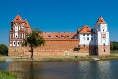 Medieval castle in Mir of Belarus Royalty Free Stock Images