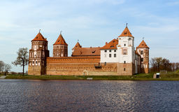 Medieval castle in Mir, Belarus. Stock Photo