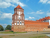 Medieval castle in Mir. Medieval castle in a summer day, Mir, Belarus Royalty Free Stock Image