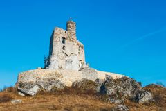 Medieval castle in Mirow, Poland Stock Photo