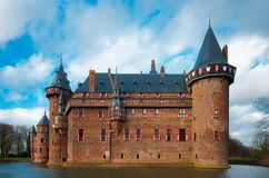 Medieval castle with moat Royalty Free Stock Image