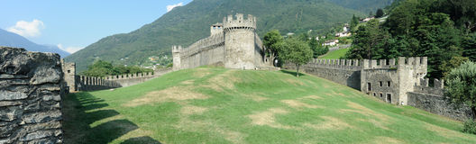 The medieval castle of Montebello at Bellinzona Royalty Free Stock Image