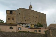 Medieval castle in Montefiore Conca, Italy stock photos