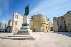 Medieval castle and monument in Otranto, Italy Royalty Free Stock Photos