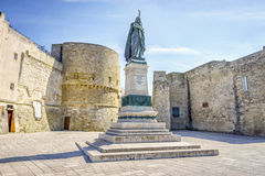 Medieval castle and monument in Otranto, Italy Stock Photos