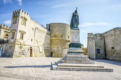Medieval castle and monument in Otranto, Italy Stock Image