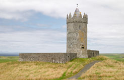 Medieval castle on moor Stock Images