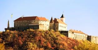 Medieval castle in Mukachevo Stock Photos