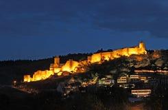 Medieval castle of Narikala at night Royalty Free Stock Photos