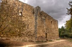 Medieval,  castle near jerusalem Royalty Free Stock Photography