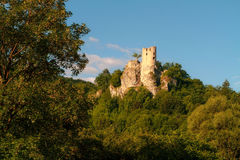 Medieval Castle Neideck. Picturesque Picture of Castle Neideck. Shot in Oberfranken in Bavaria in June. With Hills and fields in the surroundings Stock Photo