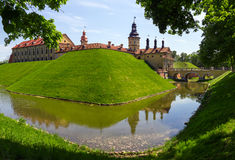 Medieval castle in Nesvizh, Belarus. Royalty Free Stock Photo