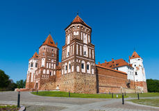 Medieval castle in Nesvizh, Belarus. Royalty Free Stock Images