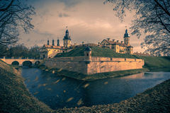 Medieval castle Nesvizh in Belarus Royalty Free Stock Photos
