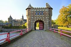 Medieval castle in the Netherlands Royalty Free Stock Photo