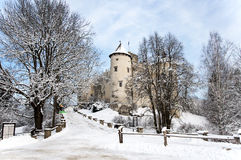 Medieval Castle in Niedzica, Poland, in winter Stock Photography