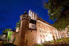 Medieval castle at night royalty free stock photo