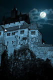 Medieval castle at night Royalty Free Stock Photos