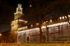 Medieval castle at night (7) Royalty Free Stock Photography