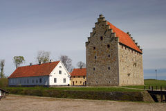 Medieval castle not far from S Stock Photo