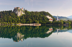 Medieval Castle Of Bled, Slovenia Stock Photo