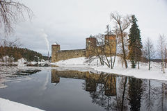 Medieval castle Olavinlinna Stock Photo