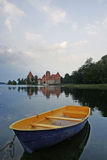 Medieval Castle. Old medieval castle on lake Galve in Trakai, Lithuania Royalty Free Stock Photos