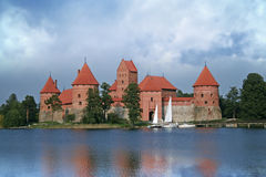 Medieval Castle. Old medieval castle on lake Galve in Trakai, Lithuania Stock Photos