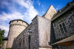 Medieval castle in the old town. royalty free stock photography