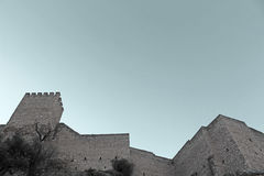Medieval castle photo Royalty Free Stock Images