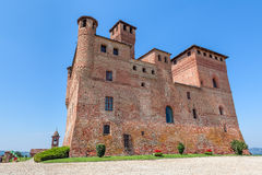 Medieval castle in Piedmont, Italy. Royalty Free Stock Photography