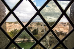 Medieval castle of popes in Avignon Stock Photos