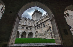 Medieval castle of popes in Avignon Royalty Free Stock Photos
