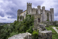 Medieval castle, Portugal. A medieval castle in the Portuguese village of Obidos royalty free stock photo