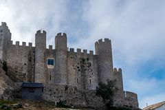 Medieval castle in the portuguese village of Obidos stock photo