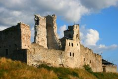 Medieval castle in Rakvere, Estonia. Rakvere Castle of 14th century. Castle, and the museum houses exhibits on weapons, medieval torture, and the history of the stock photos
