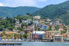 Medieval castle in Rapallo Royalty Free Stock Images