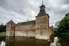 Medieval castle with reflection Royalty Free Stock Photo