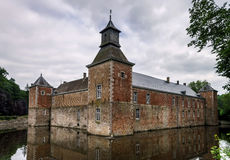 Medieval castle with reflection Stock Photo
