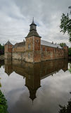 Medieval castle with reflection Stock Photos