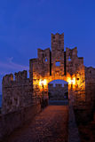 Medieval castle Rhodes Greece Royalty Free Stock Images