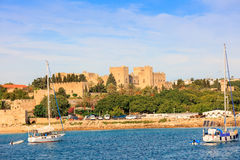Medieval Castle in Rhodes, Greece. Stock Photography