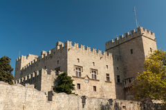 Medieval castle Rhodes Royalty Free Stock Image