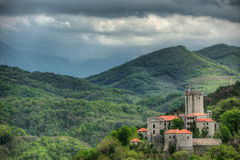 Medieval castle Rihemberk in Branik, Slovenia Royalty Free Stock Images