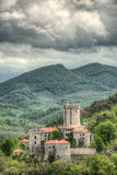 Medieval castle Rihemberk in Branik, Slovenia Royalty Free Stock Photography