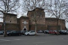 Medieval castle in Rimini center, Italy. Medieval castle in Rimini city center, Italy royalty free stock image