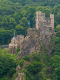 Medieval castle on the rock Stock Images