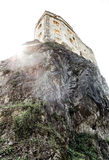 Medieval castle on rock Stock Images