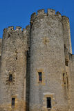 Medieval castle of Roquetaillade in Gironde Stock Images