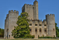 Medieval castle of Roquetaillade in Gironde Stock Photography